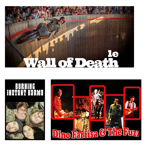 Wall of Death, Burning Instant Karma, Dino Farfisa & The Fuzz